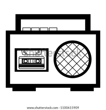 boombox radio cassette audio music vintage