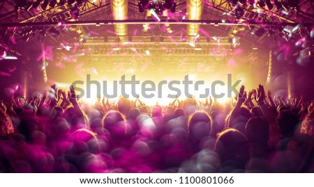 Concert stage with massive lens flare and distress effect #1100801066