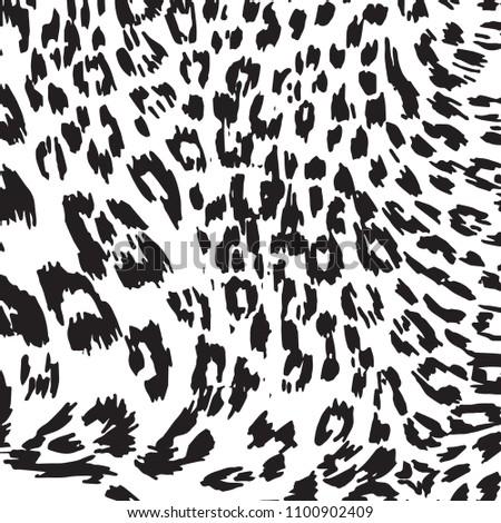 animal skin leopard pattern in vector #1100902409