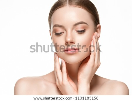 Beauty skin woman face close up healthy skin care #1101183158
