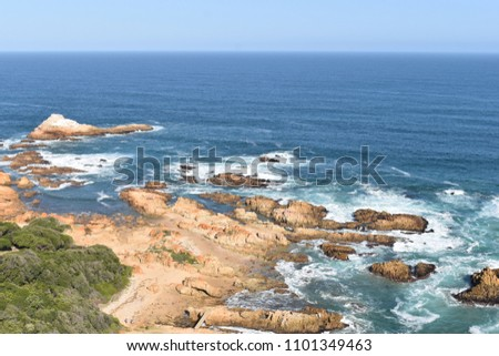 Beautiful nature at famous Knysna Heads in Knysna in South Africa #1101349463