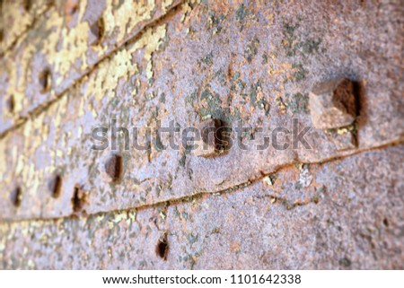 detail old doorway studded by nails at the entrance of Spanish Fortress in Herceg Novi, Montenegro #1101642338