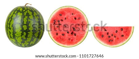 watermelon on a white background, isolated #1101727646