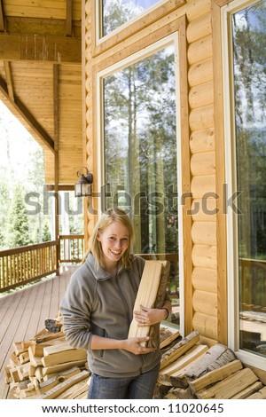 gathering firewood #11020645