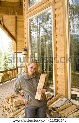 standing outside of cabin #11020648