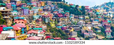 Not Brazil Nor Argentina Its my India. The beautiful panoramic landscape of Shimla situated in Himachal Pradesh. Natural beauty of Shimla Himachal Pradesh India. Best honeymoon destination for couples #1102189334