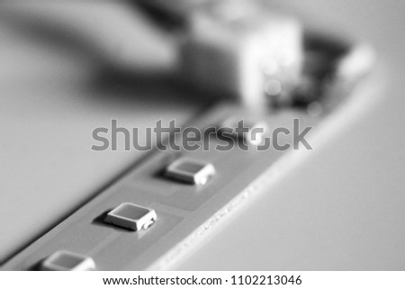 Diode strip. Led lights tape close-up, macro #1102213046