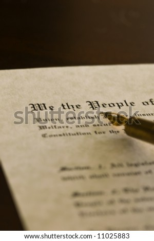 US Constitution with a quill #11025883