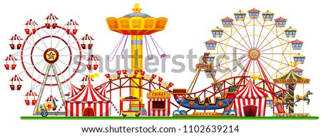 A Panorama of Fun Fair illustration