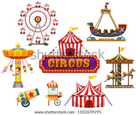 A Circus and Festival Element illustration