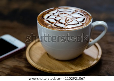 Backgrounds of Latte coffee. #1102921067