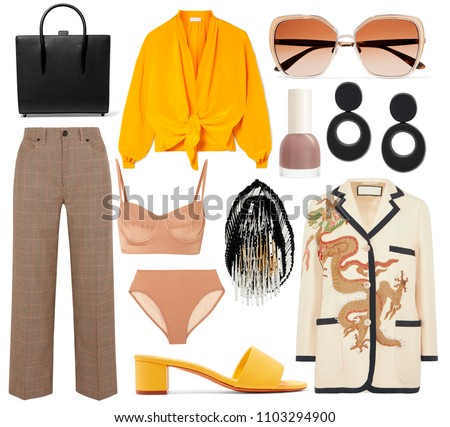 Fashionable women's clothing collage street style #1103294900