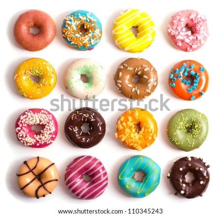 Colorful Donuts #110345243