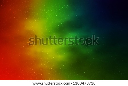 Dark Multicolor vector template with space stars. Shining colored illustration with bright astronomical stars. Smart design for your business advert. #1103473718
