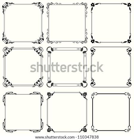 Decorative frames (set 29) #110347838