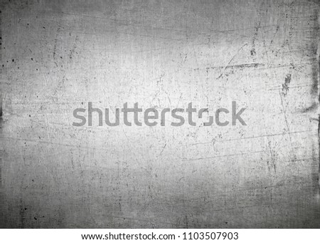 Silver background, scratched metal texture #1103507903
