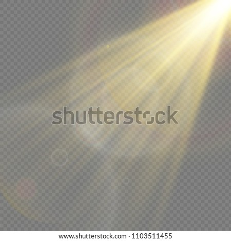 Sunlight, special lens flare, light effect. Sun flash with rays and spotlight. illustration  #1103511455