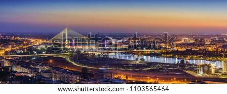 Ada,  Gazela bridges, Belgrade Waterfront, Sava river, Old and New Belgrade, Belgrade Waterfront by night #1103565464