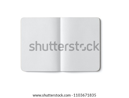 Open notepad with rounded corners on a white background
