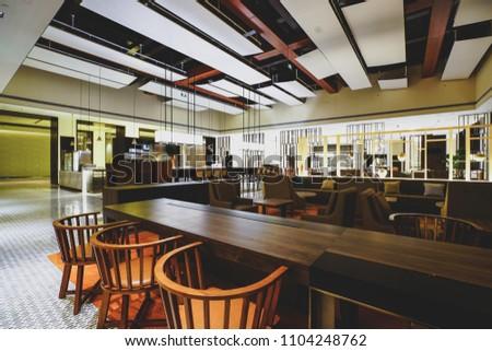 Restaurant interior in hotel #1104248762