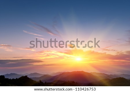 Sunrise Royalty-Free Stock Photo #110426753
