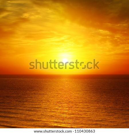 Beautiful sunset above the sea #110430863
