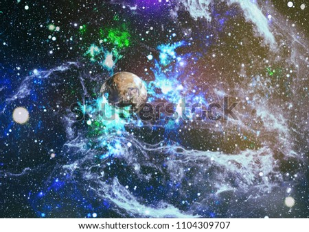 """Small part of an infinite star field of space in the Universe. """"Elements of this image furnished by NASA"""". #1104309707"""