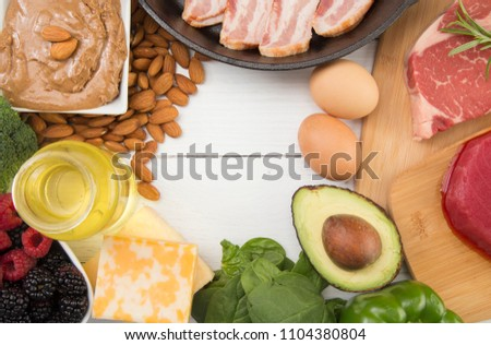 Various Foods that are Perfect for High Fat, Low Carb Diets such as Keto #1104380804