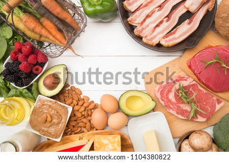 Various Foods that are Perfect for High Fat, Low Carb Diets such as Keto #1104380822