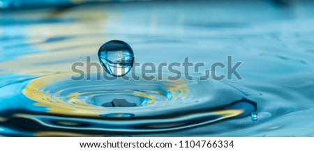 colorful water drop splash #1104766334
