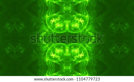 3D rendering abstract fractal light background. Abstract neon lights.  #1104779723
