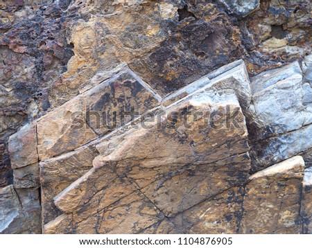 Close up stone wall grunge stone texture background. #1104876905