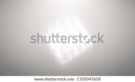 Abstract background of technology network. abstract lines cubes and flicker dots linking network. Dynamic perspective geometry space #1105045658