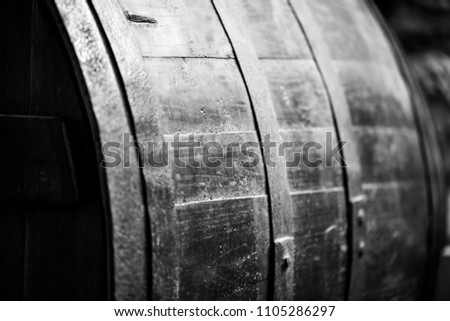 Old wood wine barrels #1105286297