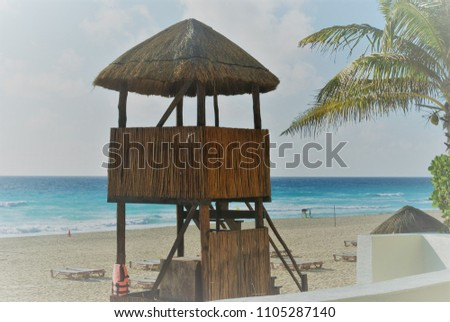 Cancun Mexico Beach Background #1105287140