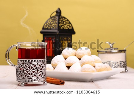 Kahk El Eid -  Cookies of Eid El Fitr Islamic Feast #1105304615