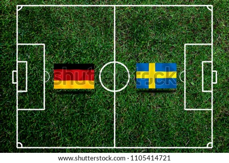 Football Cup competition between the national German and national Sweden. #1105414721