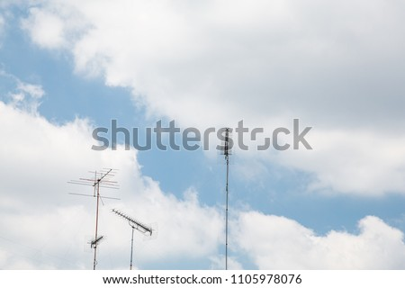 A lot of antennas #1105978076