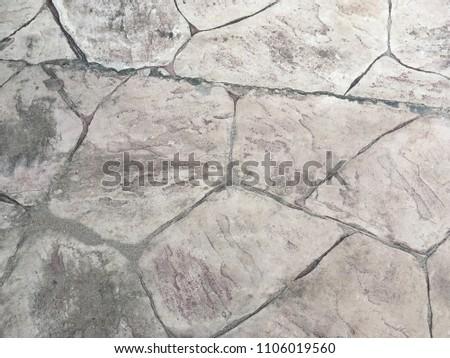 Stamp concrete floor texture pattern background #1106019560