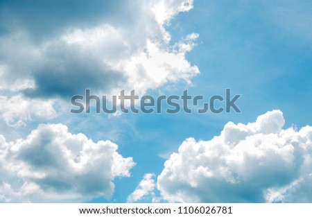 Blue sky background with clouds. #1106026781