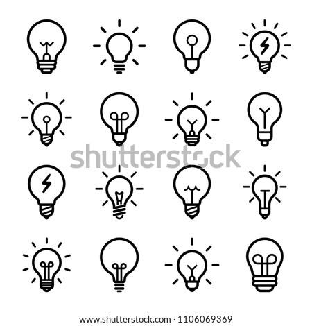 Lightbulbs Icon Set Royalty-Free Stock Photo #1106069369