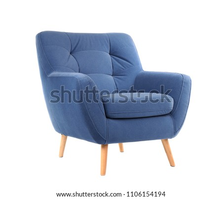 Comfortable armchair on white background. Interior element #1106154194