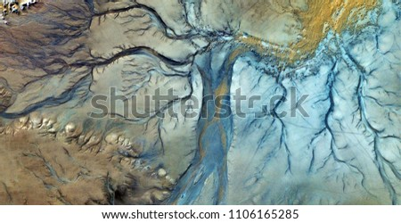 the evening dress, abstract photography of the deserts of Africa from the air. aerial view of desert landscapes, Genre: Abstract Naturalism, from the abstract to the figurative, contemporary photo art