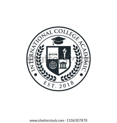university and college school crests and logo emblems Royalty-Free Stock Photo #1106307878