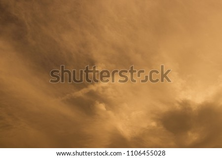 A large storm formed, powdered dust and sand on the ground were blown into the clouds, causing the orange glow to look horrible. extreme weather events.