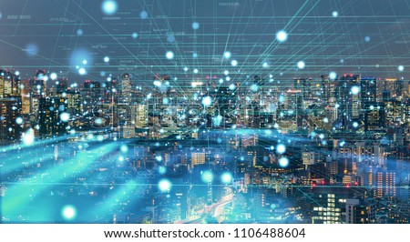 Smart city concept. IoT(Internet of Things). #1106488604