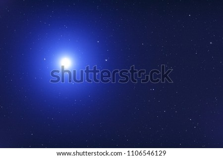 Sirius - brightest star seen from the Earth, photographed through a telescope. My astronomy work. #1106546129