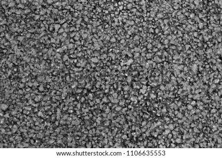 The texture of the tarmac, top view. #1106635553