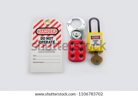 Lock out & Tag out , Lockout station,machine - specific lockout devices and lockout point #1106783702