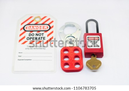 Lock out & Tag out , Lockout station,machine - specific lockout devices and lockout point #1106783705